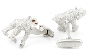 Monkey cufflinks - Chimpanzee