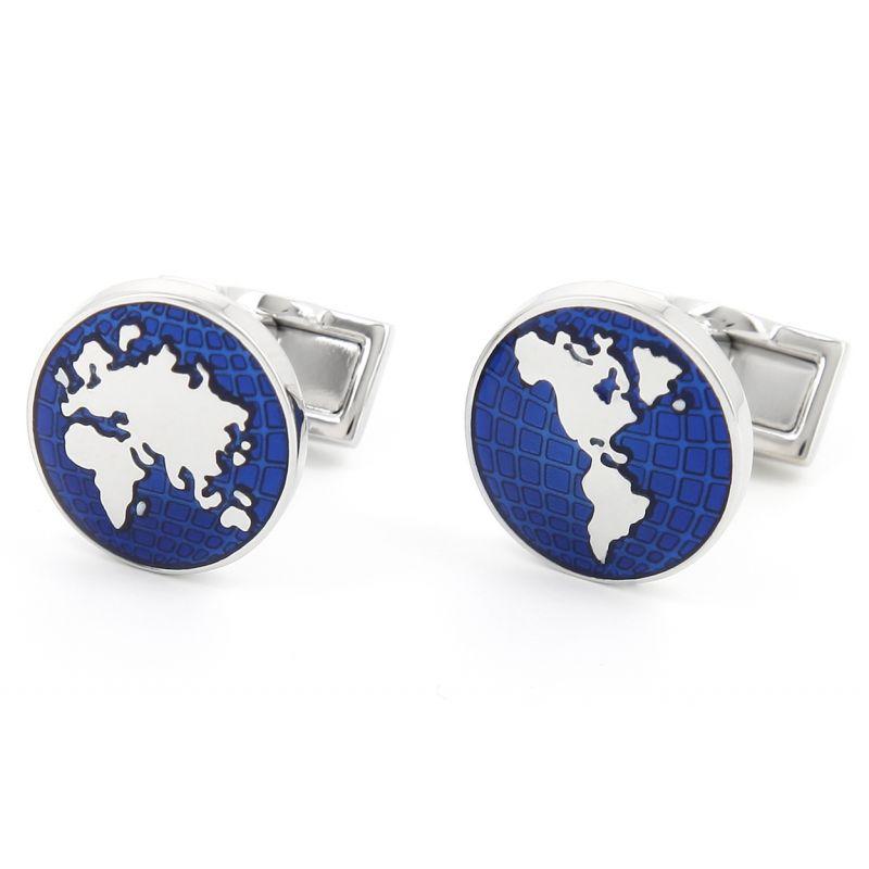 World map cufflinks - Globe Trotter