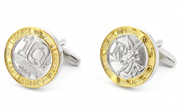 Coin cufflinks - 10 Francs