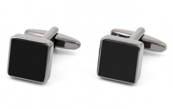 Black square cufflinks - Montreux II