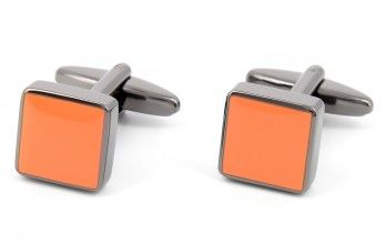 Orange square cufflinks - Montreux II