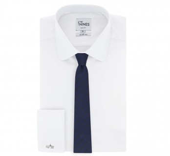 Semi Plain Navy blue The Nines Tie - Birmingham II