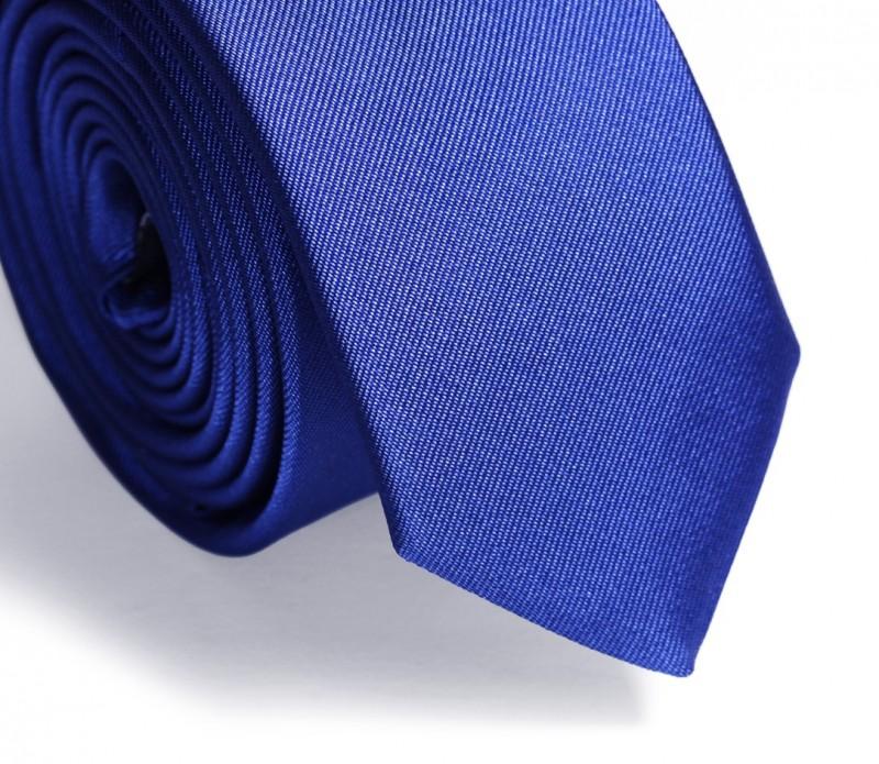 Cobalt Blue Narrow Tie - Ravenna