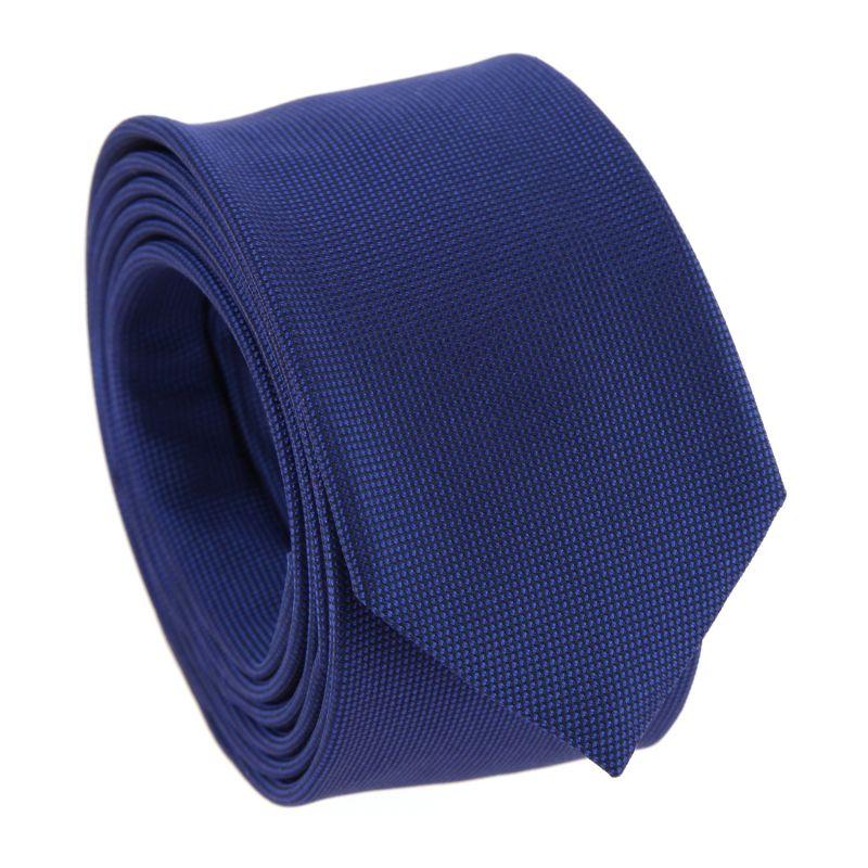 Cobalt Blue Silk Basket Weave The Nines Tie