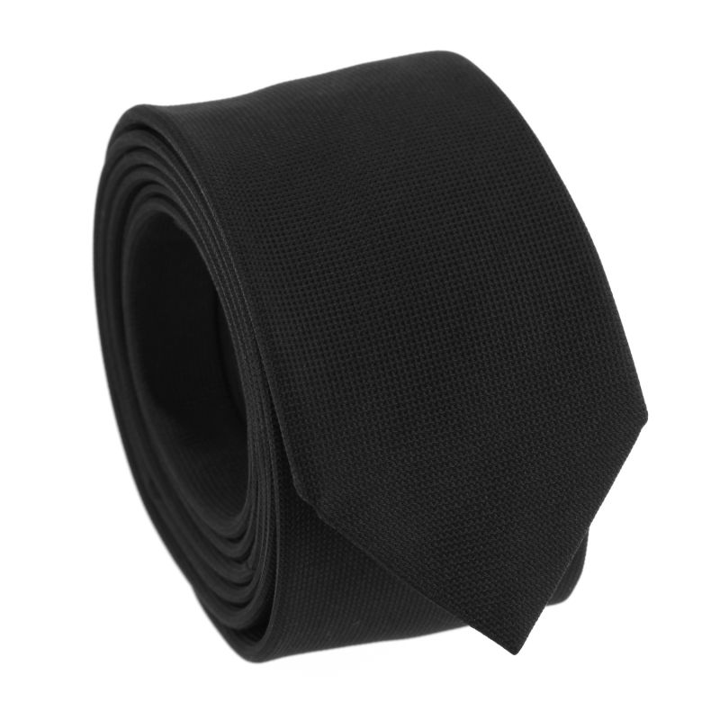 Black Silk Basket Weave The Nines Tie