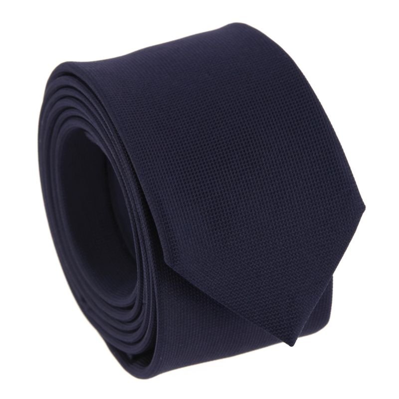Navy Blue Silk Basket Weave The Nines Tie
