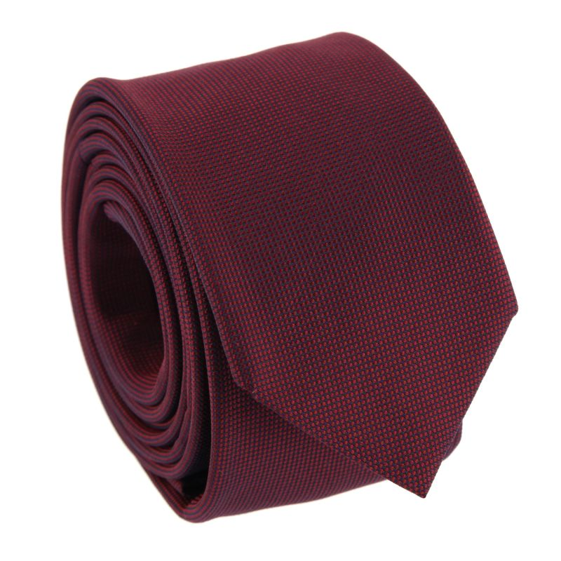 Dark Red Silk Basket Weave The Nines Tie