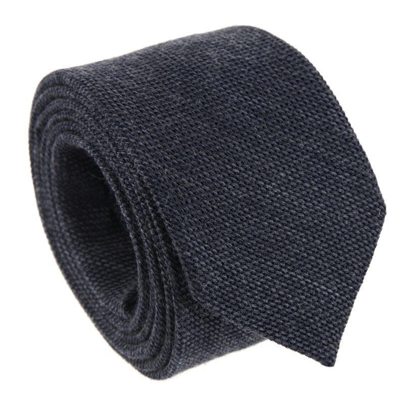 Dark Grey Grenadine Silk and Wool The Nines Tie
