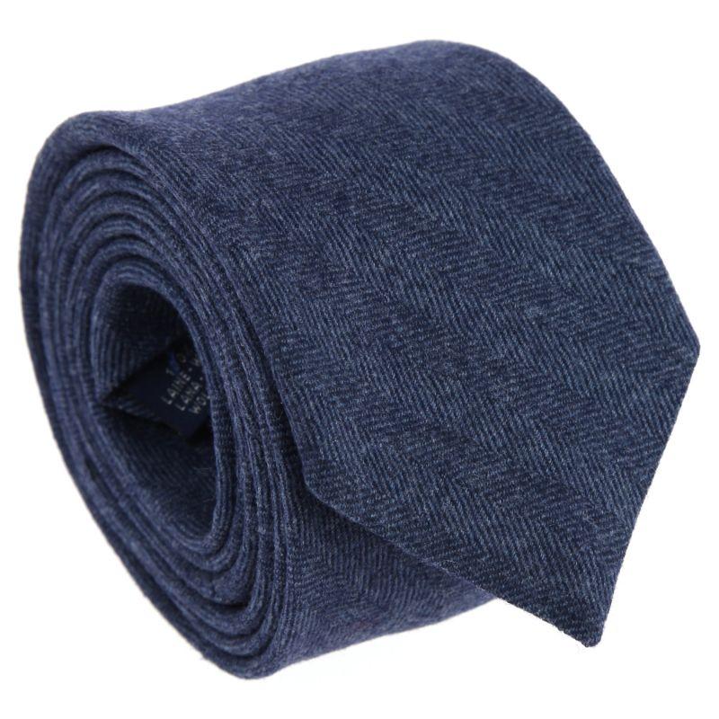 Semi-Plain denim Blue The Nines Wool Tie