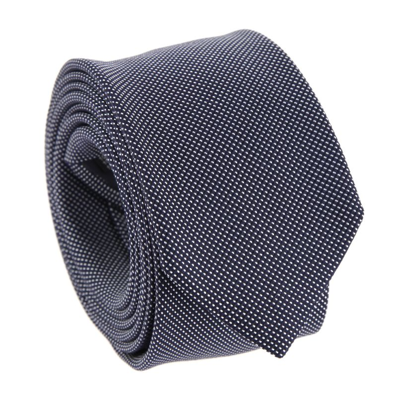 Semi-Plain Navy Blue Pinhead The Nines Tie