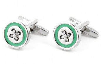 Aqua green cufflinks - Baltimore