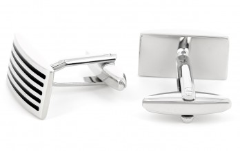 Black rectangularcufflinks - Manhattan