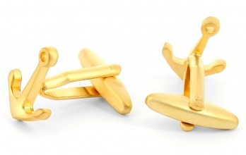Gold anker cufflinks - Portsmouth III