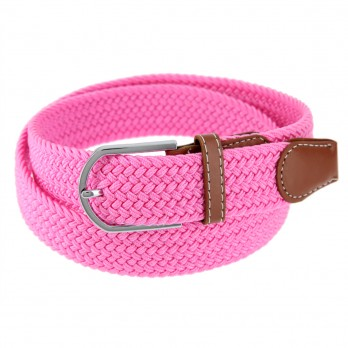 Elastic braided belt in candy pink - Rob