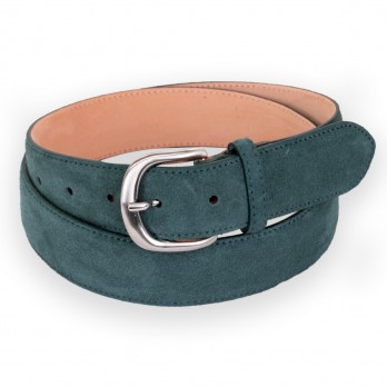 Suede belt in forest green - Morgan