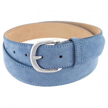 Suede belt in denimblue - Morgan