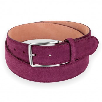 TOM BURGUNDY SUEDE BELT