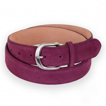 Suede belt in purple - Morgan