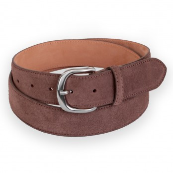 Suede belt in coffee brown - Morgan