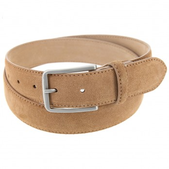 Men\'s belt in camel suede - Tom