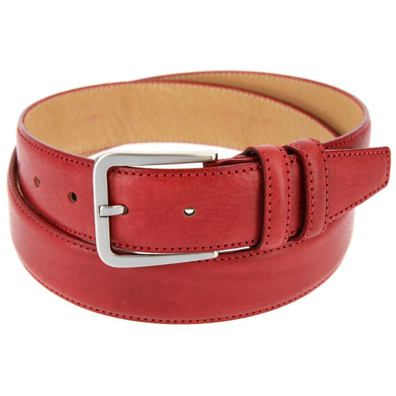 RED LEATHER THE NINES BELT