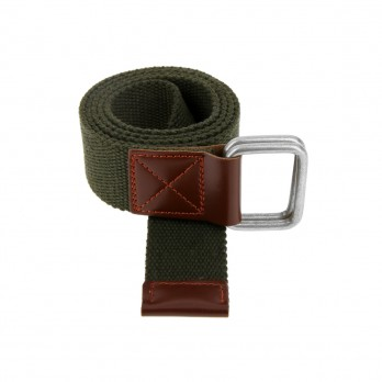 Belt in khaki linen