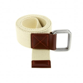 Belt in beige linen