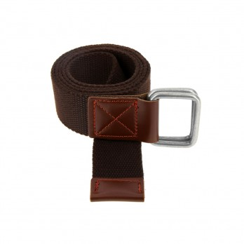 Belt in chocolate brown linen