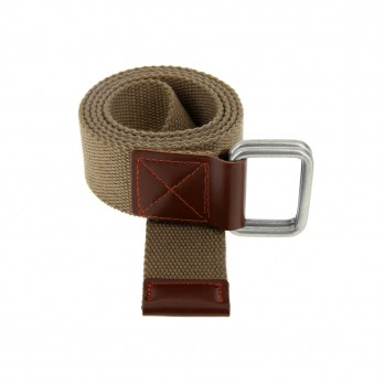 Belt in dark beige linen