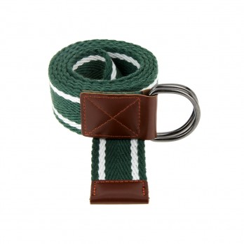 GREEN STRIPED HESSIAN BELT