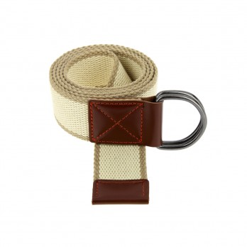 BEIGE STRIPED HESSIAN BELT