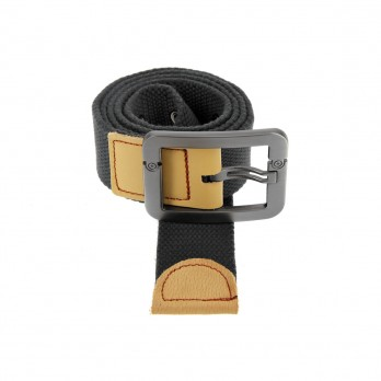 Belt in grey linen