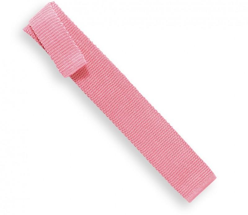 Knit Pastel Pink Tie - Monza