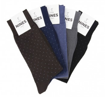Pack of 5 pairs of lisle thread socks with dots