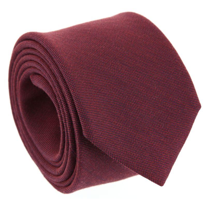 Burgundy Silk and Wool Basket Weave The Nines Tie