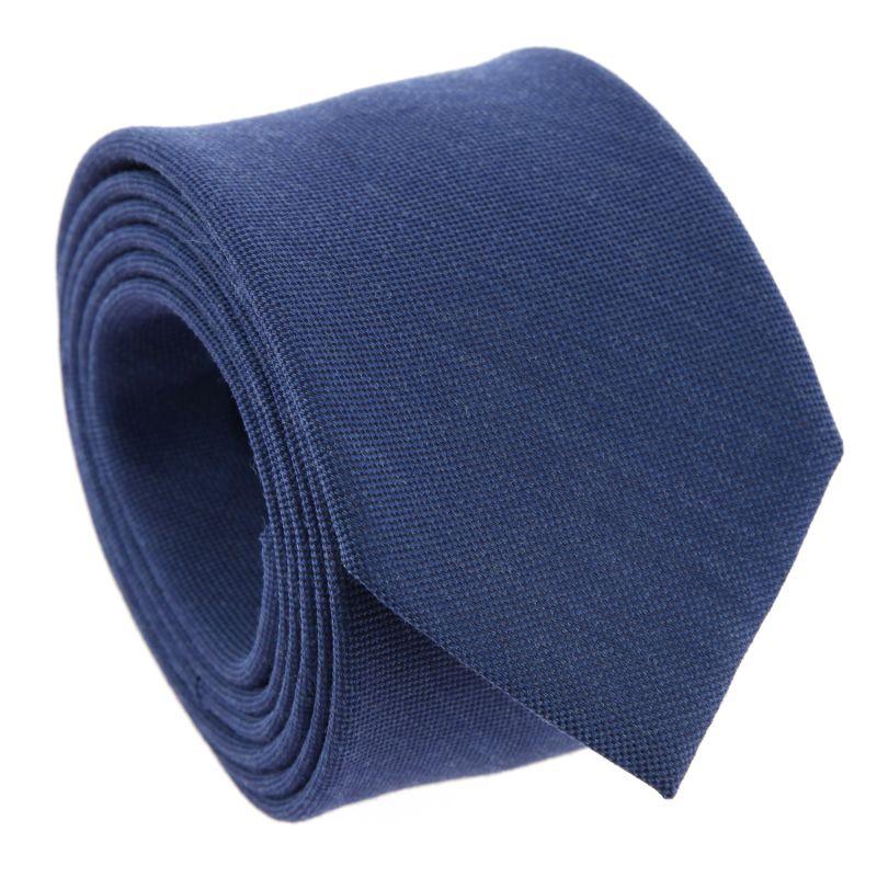 Blue Silk and Wool Basket Weave The Nines Tie