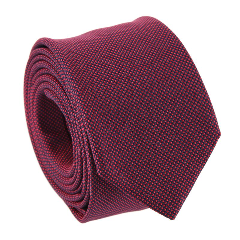 Semi-Plain Navy and Red The Nines Tie