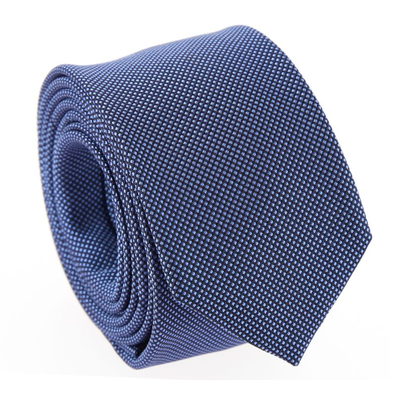 Semi-Plain Navy and Blue The Nines Tie