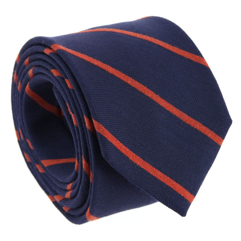 Navy Blue and Blue Striped The Nines Tie