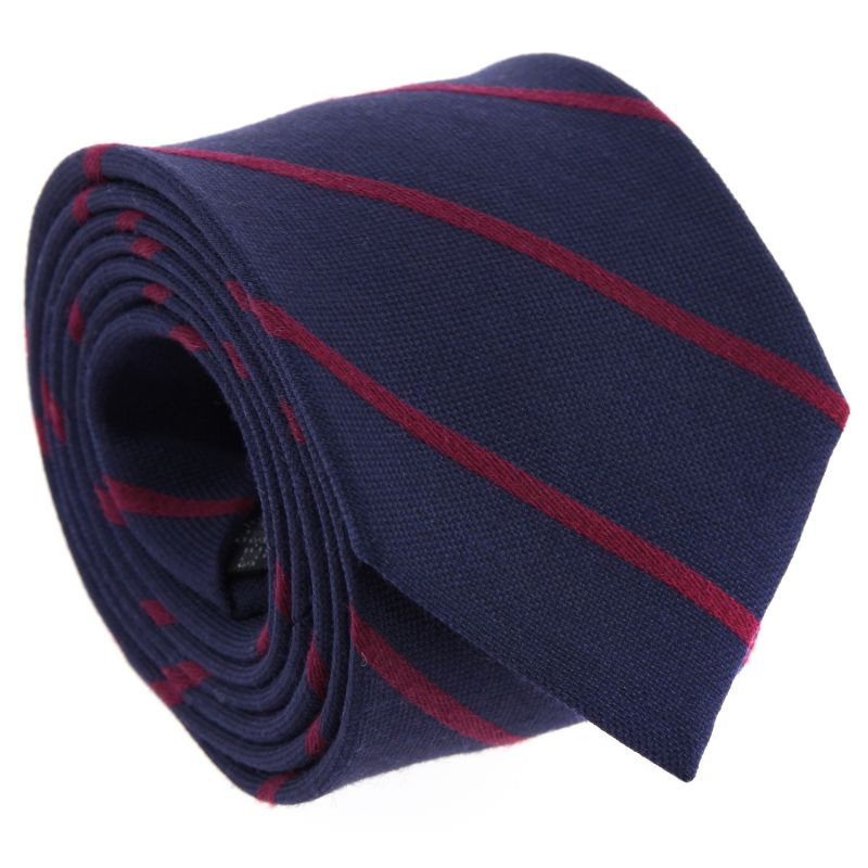 Navy Blue and Orange Striped The Nines Tie