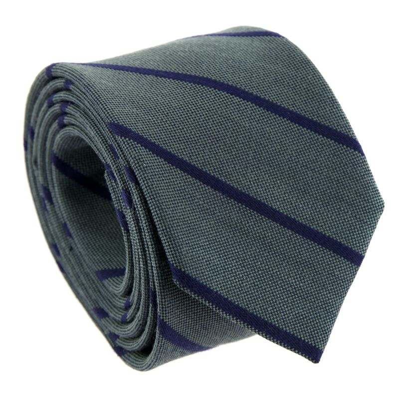 Brown and Navy Blue Striped The Nines Tie