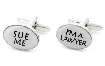 Lawyer cufflinks - Sue Me I'm a Lawyer