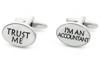 Trust Me I'm an Accountant cufflinks - Trust Me I'm an Accountant