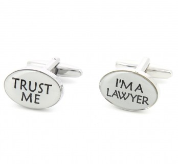 Lawyer cufflinks - Trust Me I'm a Lawyer