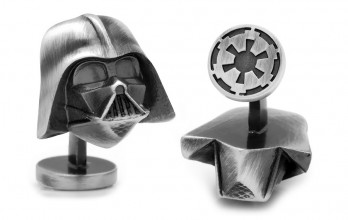 Star Wars cufflinks - Dark Vader antique silver