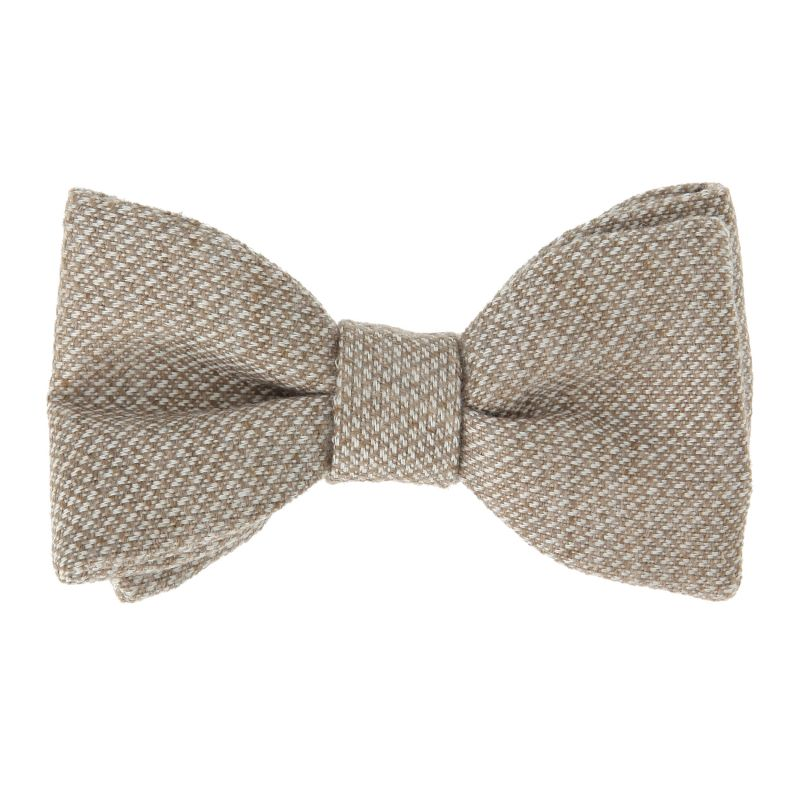Navy Blue The Nines Bow Tie With White Patterns