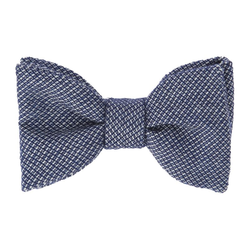 Blue The Nines Bow Tie with Flowers