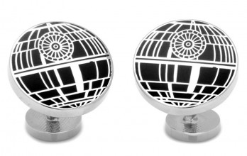 Star Wars cufflinks - Death Star black