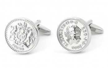 Coin cufflinks - Pound