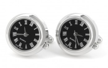 Clock Cufflinks - Neuchatel